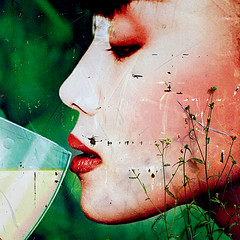 Aftertaste (daliborlev) Tags: grass square drink urbandecay ad drinking billboard brno advert damage damaged asiangirl mundanedetail wornoutadvertisment nowthistagshouldboosttheviews