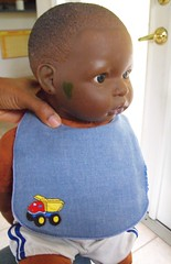 Sewing FO - Baby Boy Bib Modeled