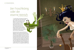 the frog king (akrapf) Tags: illustration fairytale book vector brothersgrimm akrapf