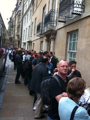700 people in line to get into #ted