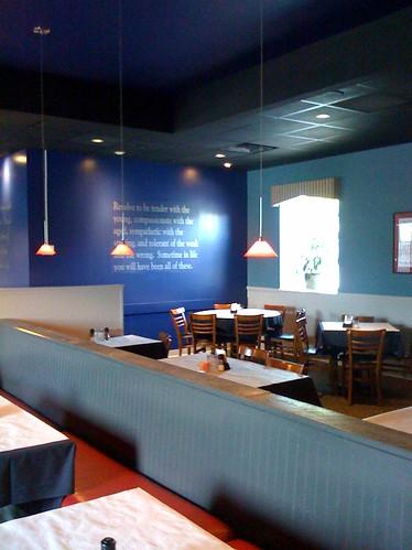 Wall Lettering in Virginia Restaurant