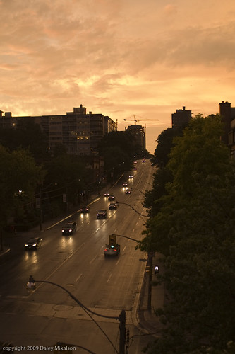 Sunset and Avenue Road (after the storm)