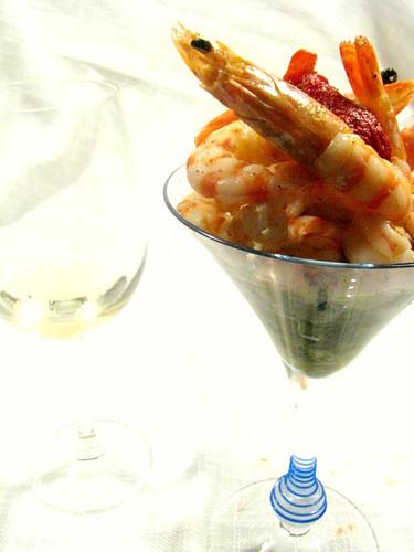 Mazzancolle,fagiolini e crema di ceci allo zenzero