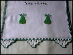 Pera (universoartesanatos) Tags: aplique crochê panodeprato panodecopa