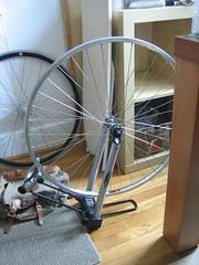 mostly built wheel (skvidal) Tags: bike wheel truingstand mryumhandmade