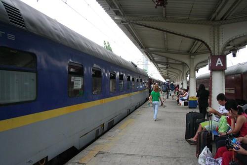 Estação de comboios em Bucareste na Roménia
