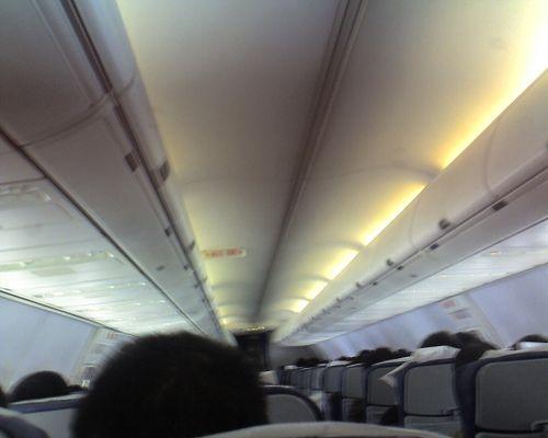 波音737飞机内部景象(经济舱)