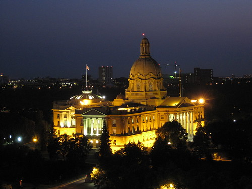 Alberta Legislature at Night