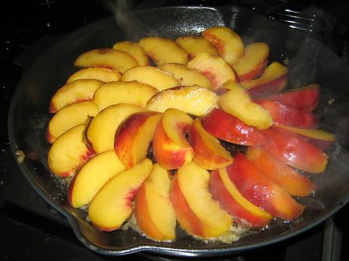 Gluten-free peach cake