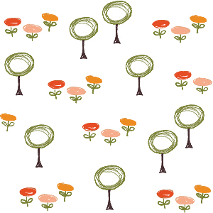 Trees and Flower Textile
