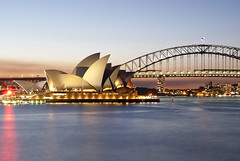 Sydney Opera House (stevoarnold) Tags: bridge house point harbor twilight opera harbour sydney australia macquarie