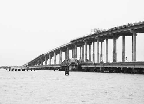 Swing Bridge & Replacement over Sabine River, Port Arthur, Texas 0912091455BW