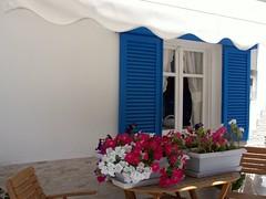 Paros Island - Greece - 2009 (CarlosCoutinho) Tags: flowers blue summer flores fleurs island greek islands mediterranean mediterraneo aegean hellas greece paros isles cyclades naoussa mediterranée kyklades