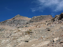 "Looking Back to Mislabeled ""Monte Cristo"" and South Shoulder of Kyes (Pass to Far Right)"