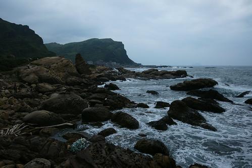 奇岩。明信片