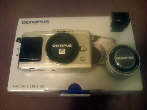 E-p1 olympus pen 付属パーツを並べてみた