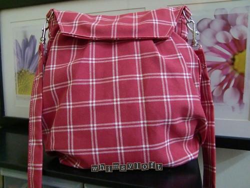 Red Plaid Sling Bag