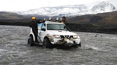 Hkka sr far yfir Markarfljti (Iceland Encounter) Tags: iceland nissan wilderness patrol markarfljt ridingshotgun icelandencounter
