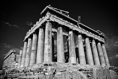 IMG_0267-1 (P Anderson - Sea) Tags: trip vacation blackandwhite bw holiday tourism landscape greek temple ancient ruins europe columns athens tourist unesco parthenon greece marble pillars athena doric athensgreece travelphotos vacationphotos arcopolis templeofathena athenaparthenos templeofathenaparthenos gapsubmitted