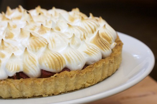 Strawberry Rhubarb Meringue Tart #2