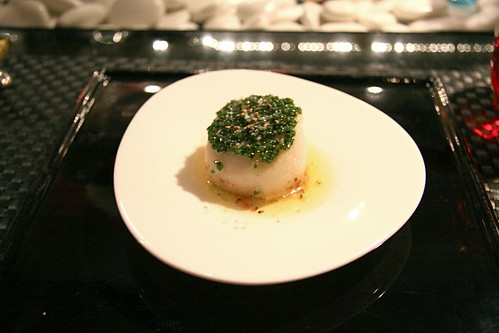 L'Atelier de Joël Robuchon - 2nd course, Sea scallop cooked in shell