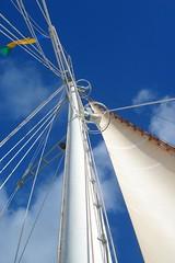 Yankee Clipper (Alex Hopkins) Tags: blue wallpaper sky holiday apple clouds sailing sail mast windjammer picnik retina iphone pennant alexhopkins svyankeeclipper 640x960