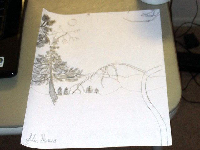 The Forest Sunset Sketch: Part 2