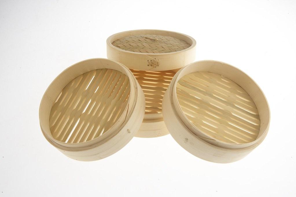 4 piece bamboo steamer
