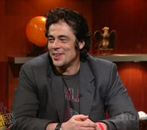 benicio del toro on colbert Report