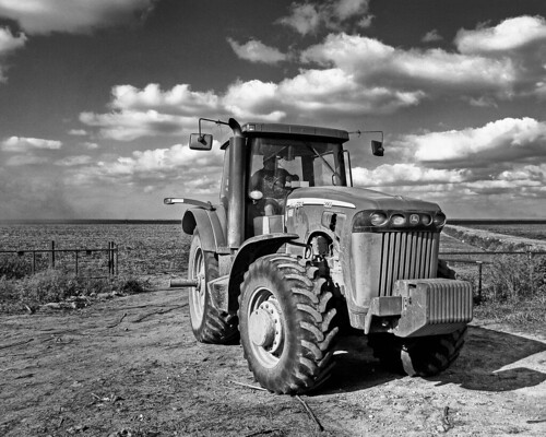 Black and White Tractor- HDR