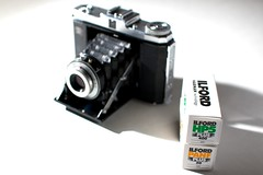 Zeiss Ikon Nettar 518/16 Front with Ilford