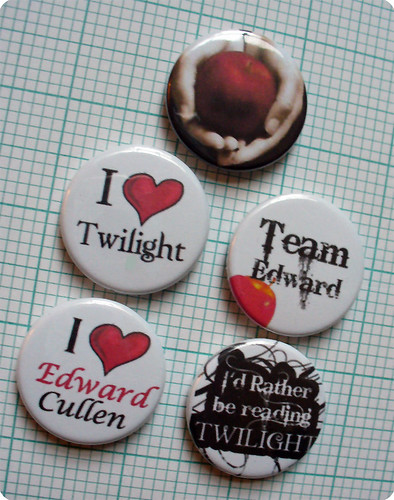 Twilight button badges by koolbadges.com.