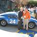 Bob Bondurant with one of the Ferrari 250 GTOs.