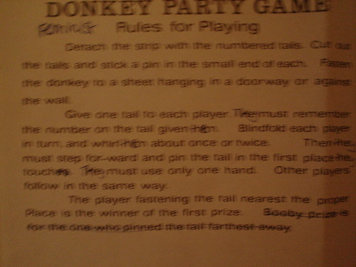 Feminist rules for pin the tail on the donkey
