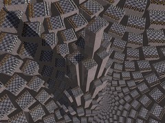 Trebizonde (fdecomite) Tags: mountain spiral chess math doyle chessboard povray checkboard imagej