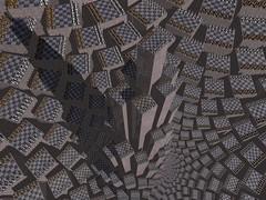 Trebizonde (fdecomite) Tags: mountain spiral chess math doyle chessboard povray checkboard imagej