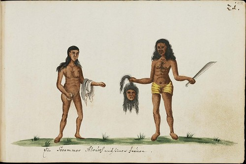 2 natives with severed head