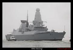 HMS Daring's Arrival (Jacksonphreak) Tags: navy royal 45 destroyer type portsmouth rn daring hms