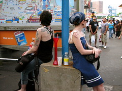 These Girls Didn't Know Eachother (seaotter22) Tags: girls girl tattoo coneyisland style tattooed