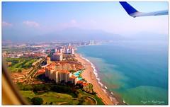 Leaving Vallarta... (Hugotepic) Tags: méxico puerto jalisco aerialviews pvr beaches vallarta puertovallarta playas bahíadebanderas