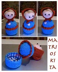 Intento de Matrioska (✮~ Katty ~✩) Tags: red cyan amigurumi matrioska redcyan
