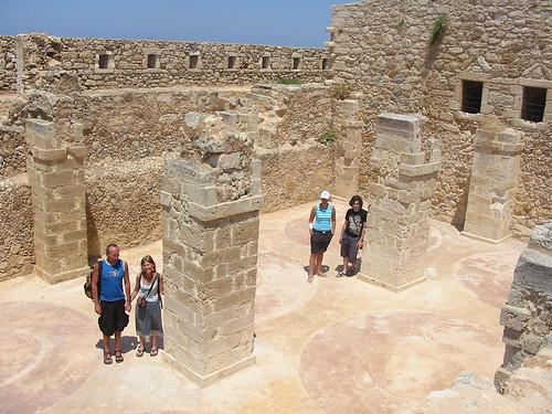 Weinig indrukwekkend fort in Rethymno