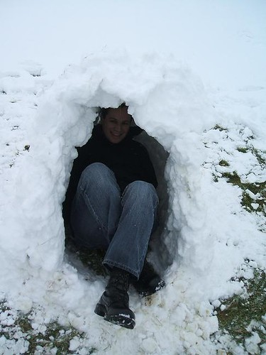 In the igloo