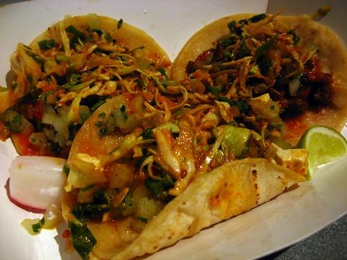 Spicy Pork Tacos & a Kogi Tofu Taco