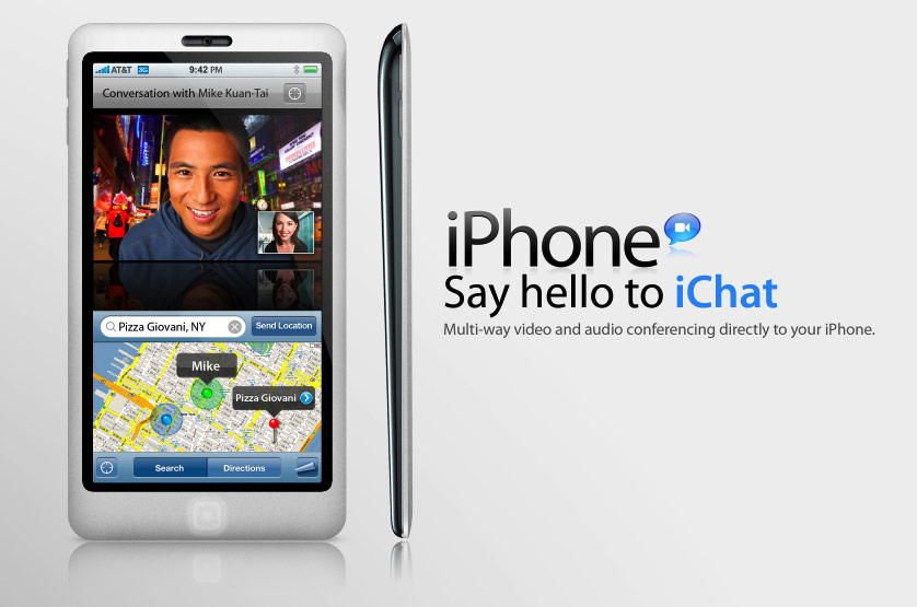 iPhone Concept with iChat