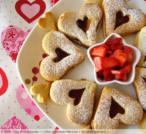 Valentine Linzer Cookies • Purple Foodie