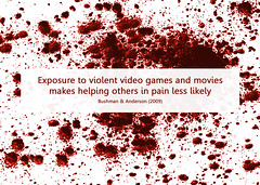 comfortably numb (Will Lion) Tags: media graphic films games gaming violence numb psychology violent mindbites desensitizing