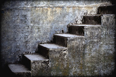 Stairs (Ric Peterson) Tags: old usa abstract texture up wall architecture stairs america concrete climb us washington exterior unitedstates unitedstatesofamerica structures rick down architectural staircase richard fortworden porttownsend northamerica wa aged walls ric peterson patina petersen buildingmaterials buildingmaterial worldregionscountries constructionmaterial ricpeterson
