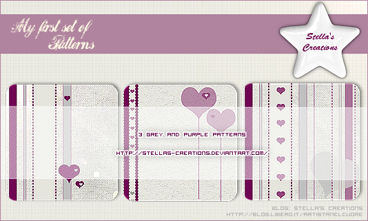 Grey and purple patterns - Blog Stella's Creations - http://sc-artistanelcuore.blogspot.com