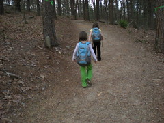 2 - Iz and Sophie on Indian Seats Trail 1